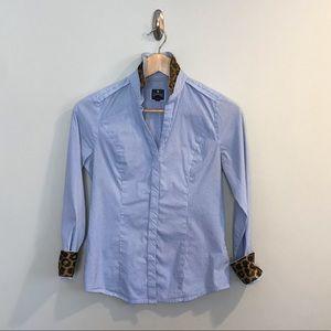 Express The Essential Button Down Shirt Leopard XS